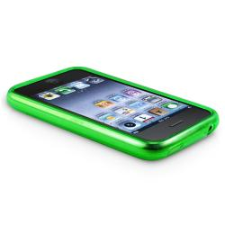 BasAcc Clear Green Circle TPU Rubber Case for Apple iPhone 3G/ 3GS - Thumbnail 2