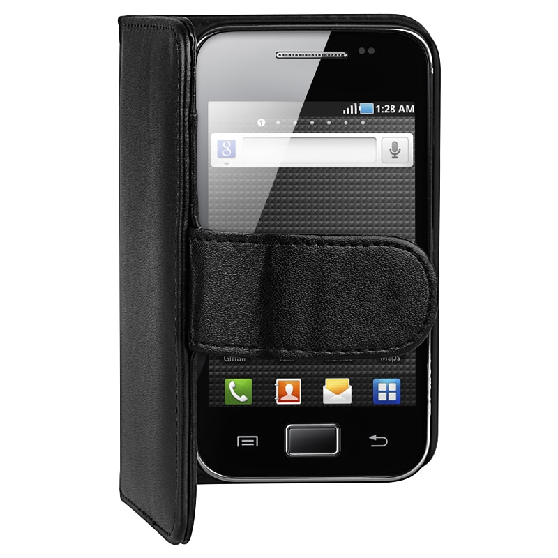 INSTEN Black Leather Wallet Phone Case Cover/ Card Holder for Samsung Galaxy Ace S5830