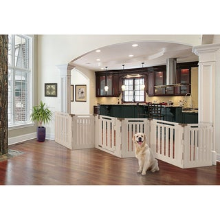 Richell Mocha Convertible Indoor/Outdoor 6-panel Pet Playpen
