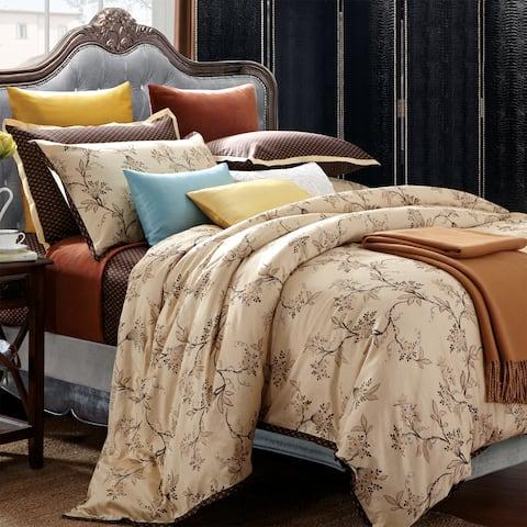 EverRouge Asian Garden King-size 7-piece Cotton Duvet Cover Set