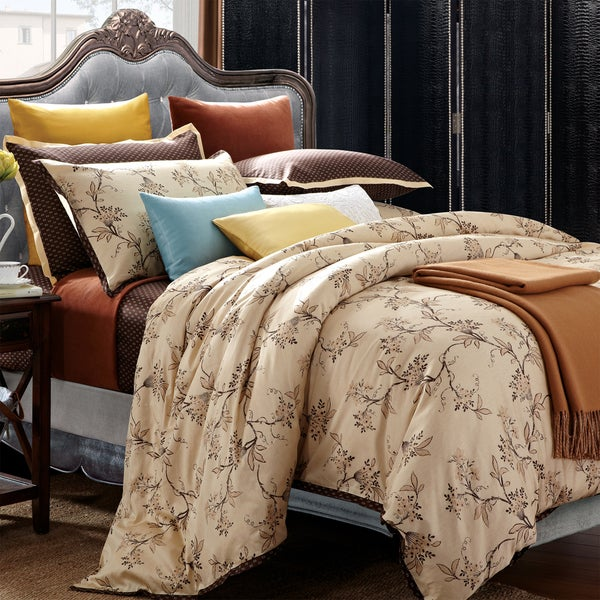 Shop Everrouge Asian Garden King Size 7 Piece Cotton Duvet Cover Set