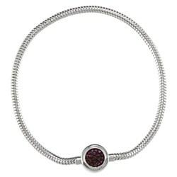 Michael valitutti two tone silver hematite and blue sapphire bracelet - Michael Valitutti Two Tone Silver Hematite And Blue