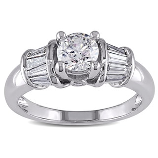 Miadora Signature Collection 14k White Gold 1ct TDW Certified Diamond Ring