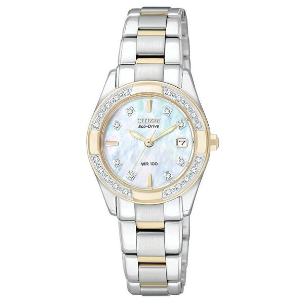 Citizen Women's Eco-Drive Regents Stainless Steel Diamond Watch