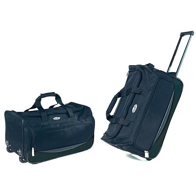 Overland Travelware 22-inch Rolling Carry-On Upright Duffel Bag