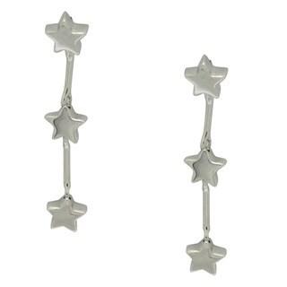 Gioelli Sterling Silver Dangling Stars Earrings