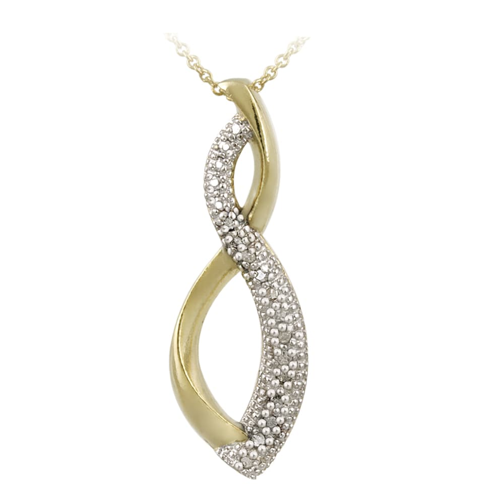 DB Designs 18k Gold over Silver 1/8ct TDW Diamond Infinity Necklace