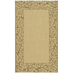 Safavieh Courtyard Natural/ Brown Indoor/ Outdoor Rug - 2' x 3'7