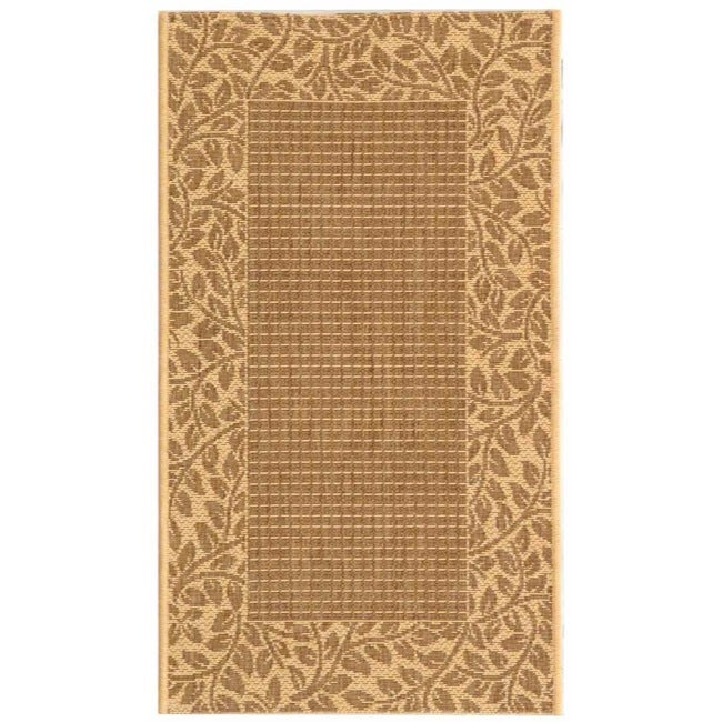 Safavieh Courtyard Brown/ Natural Indoor/ Outdoor Rug - 2' x 3'7