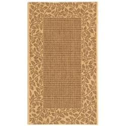 Safavieh Courtyard Brown/ Natural Indoor/ Outdoor Rug - 2' x 3'7 - Thumbnail 0