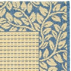 Safavieh Poolside Contemporary Natural/ Blue Indoor/ Outdoor Rug (2' x 3'7)