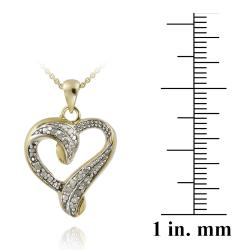 DB Designs 18k Gold over Silver 1/8ct TDW Diamond Heart Necklace