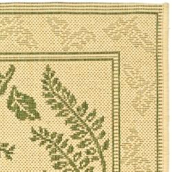 "Safavieh Ferns Natural/ Olive Green Indoor/ Outdoor Rug (2' x 3'7"") - Thumbnail 1"