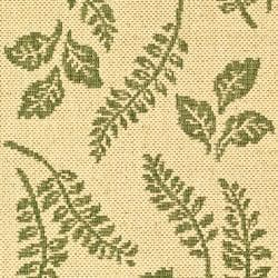 "Safavieh Ferns Natural/ Olive Green Indoor/ Outdoor Rug (2' x 3'7"") - Thumbnail 2"