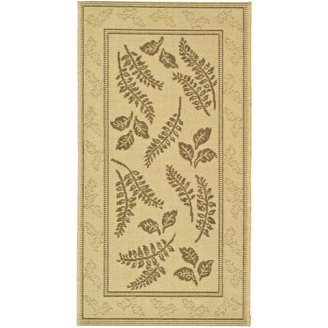 Safavieh Ferns Natural/ Brown Indoor/ Outdoor Rug (2 x 3'7) - Thumbnail 0
