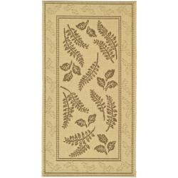 Safavieh Ferns Natural/ Brown Indoor/ Outdoor Rug (2 x 3'7)
