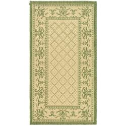 Safavieh Poolside Natural/ Olive Indoor Outdoor Rug (2' x 3'7)