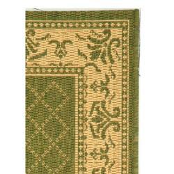 Safavieh Royal Olive Green/ Natural Indoor/ Outdoor Rug (2' x 3'7) - Thumbnail 1
