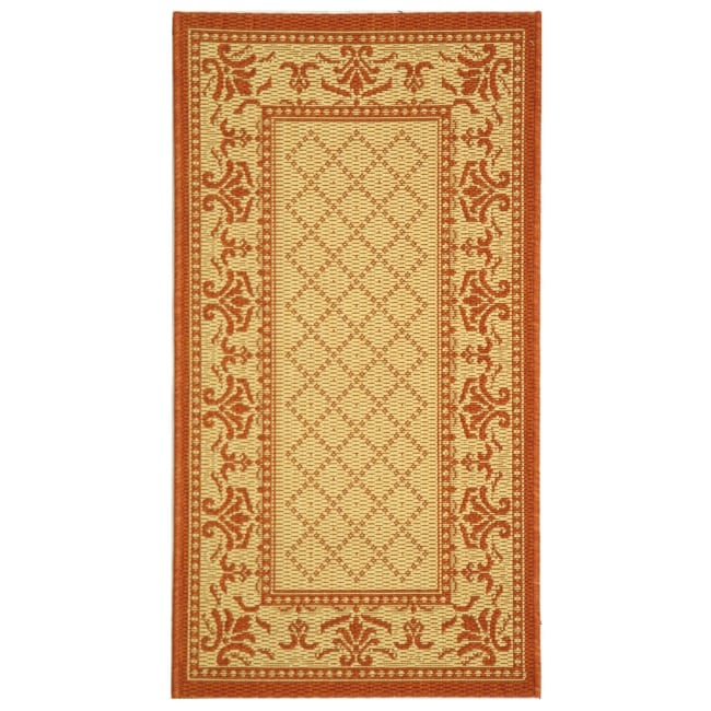 Safavieh Royal Natural/ Terracotta Indoor/ Outdoor Rug (2' x 3'7)
