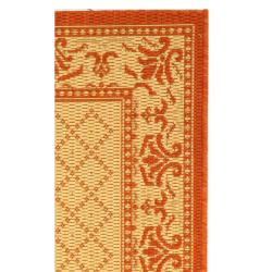 Safavieh Royal Natural/ Terracotta Indoor/ Outdoor Rug (2' x 3'7) - Thumbnail 1