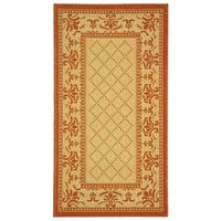 Safavieh Royal Natural/ Terracotta Indoor/ Outdoor Rug - 2' x 3'-7""