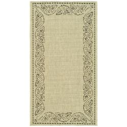 "Safavieh Poolside Sand/Black Indoor/Outdoor Accent Rug (2' x 3'7"")"