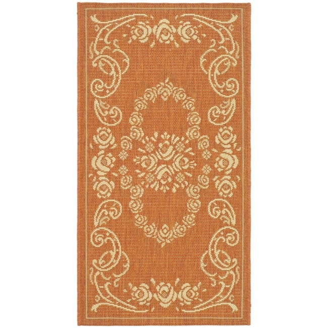 Safavieh Garden Elegance Terracotta/ Natural Indoor/ Outdoor Rug (2' x 3'7)