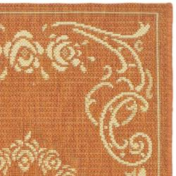 Safavieh Garden Elegance Terracotta/ Natural Indoor/ Outdoor Rug (2' x 3'7) - Thumbnail 1