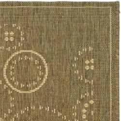 "Safavieh Ocean Swirls Brown/ Natural Indoor/ Outdoor Rug (2' x 3'7"") - Thumbnail 1"