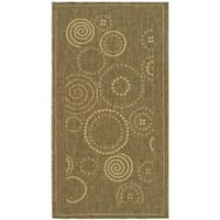 "Safavieh Ocean Swirls Brown/ Natural Indoor/ Outdoor Rug (2' x 3'7"") - 2' x 3'7"