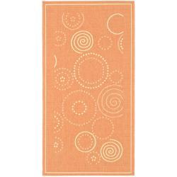 Safavieh Ocean Swirls Terracotta/ Natural Indoor/ Outdoor Rug (2' x 3'7)
