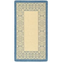 Safavieh Oceanview Natural/ Blue Indoor/ Outdoor Rug - 2' x 3'-7""