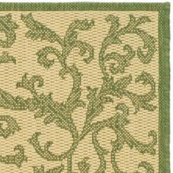 "Safavieh Mayaguana Natural/ Olive Green Indoor/ Outdoor Rug (2' x 3'7"") - Thumbnail 1"