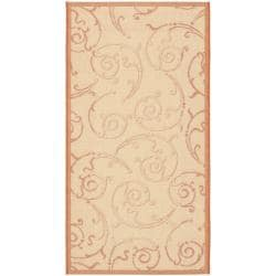 "Safavieh Small Poolside Natural/Terracotta Indoor Outdoor Rug (2' x 3'7"")"