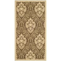 Safavieh St. Barts Damask Brown/ Natural Indoor/ Outdoor Rug - 2' x 3'7""