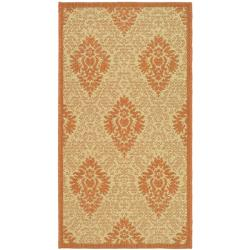 "Safavieh Durable Poolside Natural/Terracotta Indoor Outdoor Rug (2' x 3'7"")"