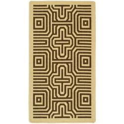 Safavieh Poolside Natural/ Brown Indoor/ Outdoor Polypropylene Rug (2' x 3'7)