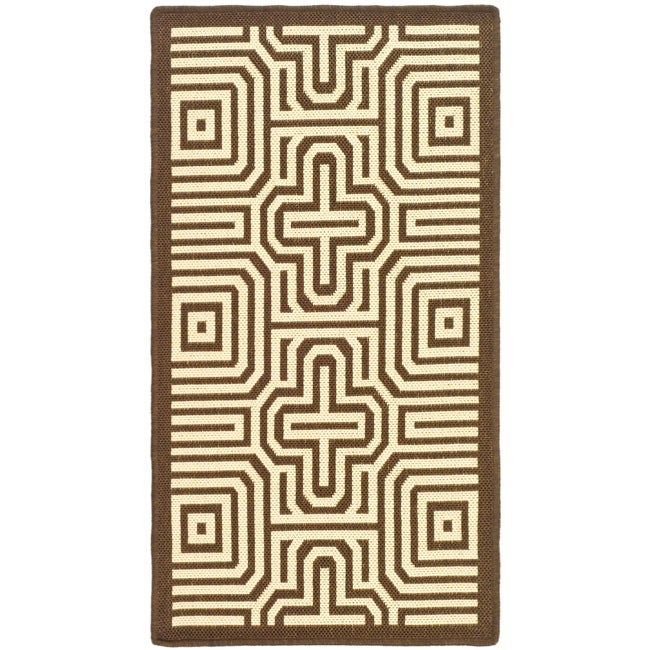 Safavieh Matrix Chocolate/ Natural Indoor/ Outdoor Rug (2' x 3'7)