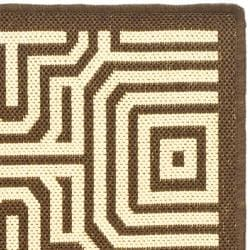Safavieh Matrix Chocolate/ Natural Indoor/ Outdoor Rug (2' x 3'7) - Thumbnail 1