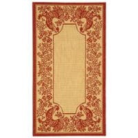 Safavieh Rooster Natural/ Red Indoor/ Outdoor Rug - 2' x 3'7