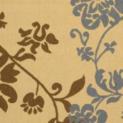 "Safavieh Poolside Natural/Brown Floral Indoor/Outdoor Rug (5'3"" x 7'7"")"