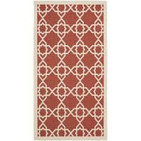 Safavieh Courtyard Geometric Trellis Red/ Beige Indoor/ Outdoor Rug - 2' x 3'7