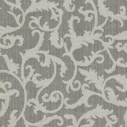Safavieh Courtyard Scrolling Vines Anthracite/ Light Grey Indoor/ Outdoor Rug (8' x 11'2) - Thumbnail 2