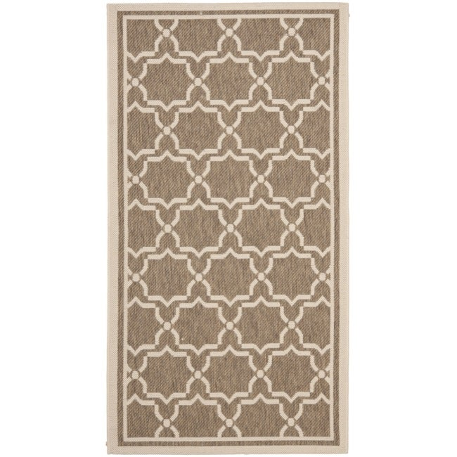 Safavieh Courtyard Poolside Brown/ Bone Indoor/ Outdoor Rug - 2' x 3'7""