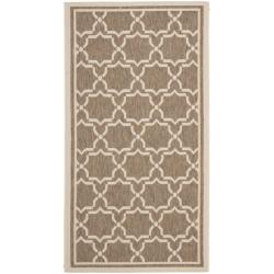 "Safavieh Courtyard Poolside Brown/ Bone Indoor/ Outdoor Rug - 2' x 3'7"" - Thumbnail 0"