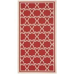 Safavieh Poolside Red/Bone Geometric Indoor/Outdoor Rug (2' x 3'7)