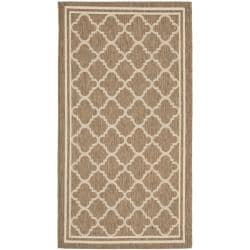 "Safavieh Poolside Brown/Bone Indoor/Outdoor Polypropylene Rug (2' x 3'7"")"