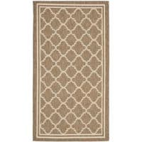 Safavieh Poolside Brown/Bone Indoor/Outdoor Polypropylene Rug - 2' x 3'7