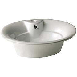 Decolav Vitreous China Vessel with Overflow and Single Hole Faucet Drilling