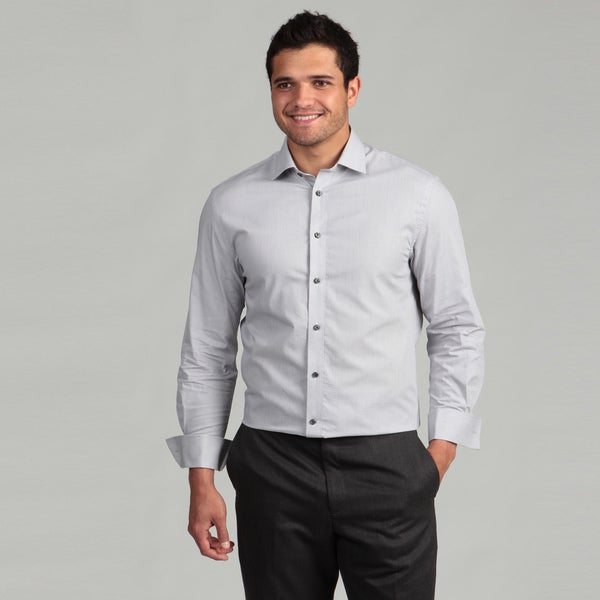 Marc New York Men's Slim Fit Grey Dress Shirt FINAL SALE